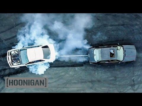 [HOONIGAN] DT 040: $350 BMW E36 vs v8 E36 Tug-Of-War