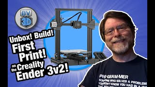 Creality's NEW Ender 3v2 3D Printer! Unbox! Build! First Print!