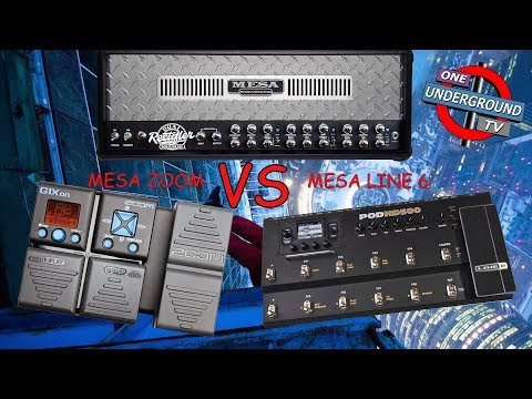 Zoom g1xon убийца line6 pod hd 500 (Zoom g1xon/g1on vs line6 pod hd 500) Djent, metal test