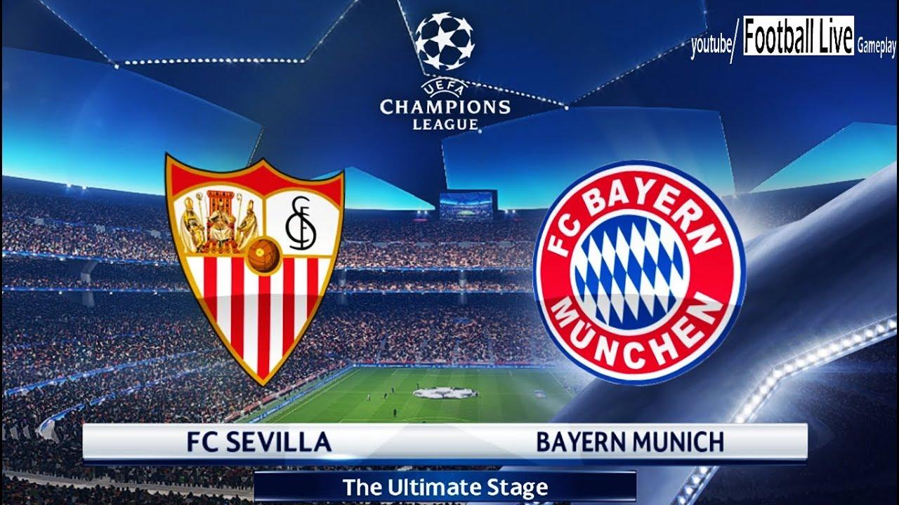 PES 2018 | FC Sevilla vs Bayern Munich | UEFA Champions ...
