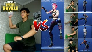 FORTNITE DANCE CHALLENGE! | [In Real Life] THE MOST TIRED CHALLENGE EVER!