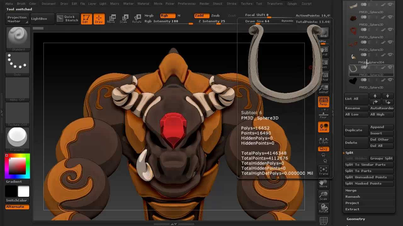 The basics of zbrush 4r5 tooltip episode 2 mirror and for Mirror zbrush