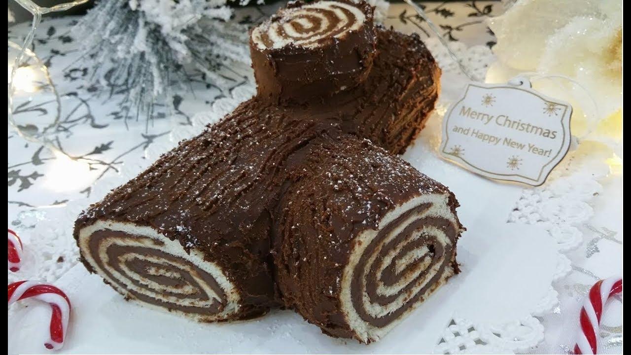 Torta Tronchetto Di Natale.Tronchetto Di Natale Senza Cottura Ricetta Semplice E Veloce