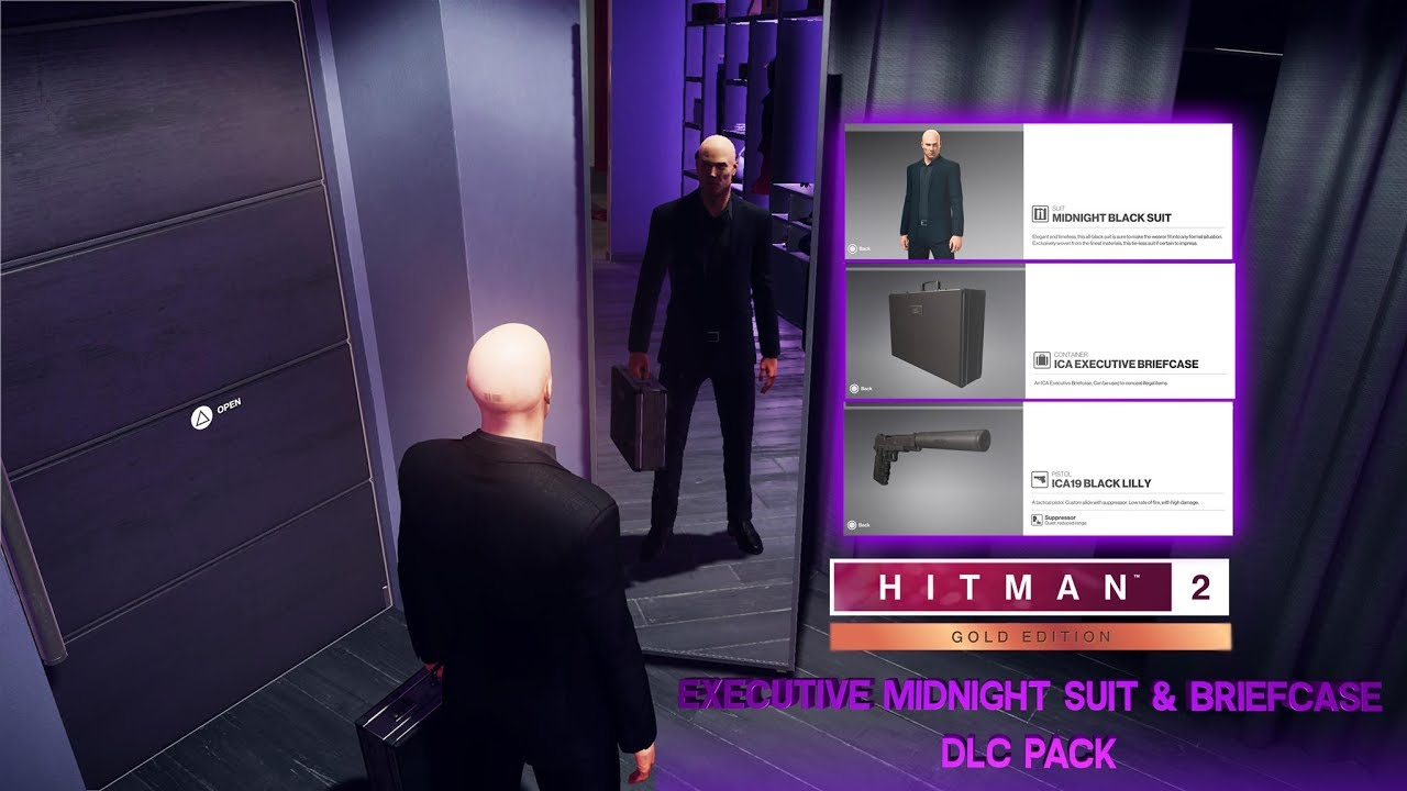 HITMAN 2: Executive Midnight Black Suit & Briefcase DLC Pack