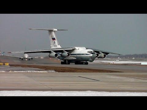 Смотреть Ил-76 и Сложная орнитологическая обстановка онлайн