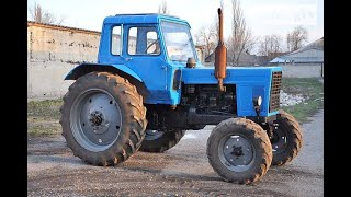 """Трактор """"МТЗ-80"""".Рассказ про органы управления трактором."""