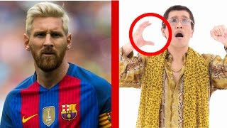 lionel messi reacts to ppap
