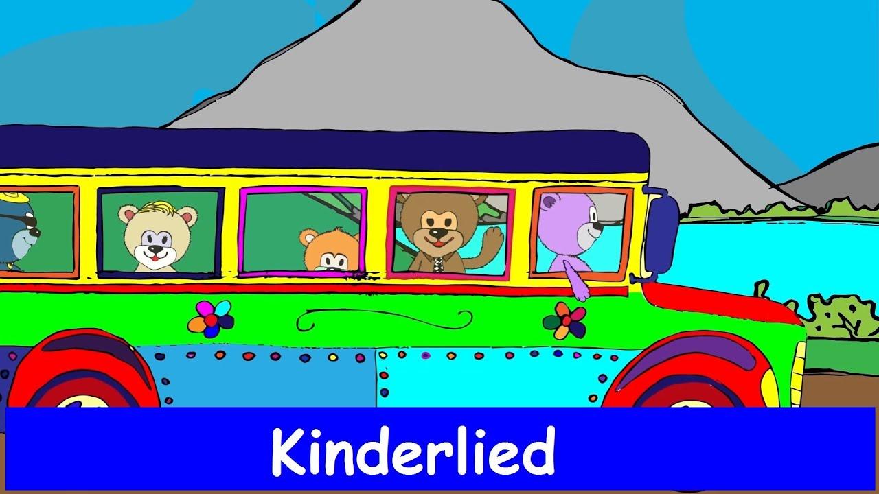 Die Familie Bussibär fährt mit dem Bus - Kinderlied - Sing mit ...