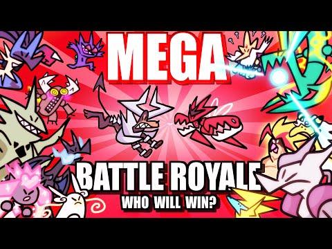 Mega Pokemon Battle Royale (Loud Sound Warning) ☄️ Collab With @Lockstin & Gnoggin
