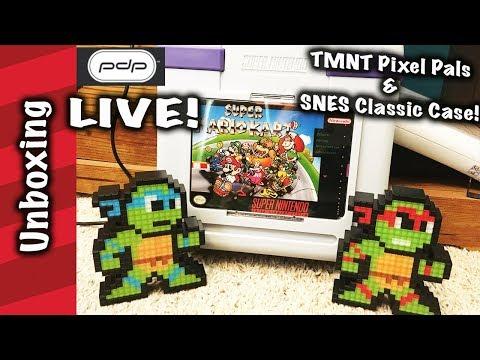 LIVE pdp SNES classic collector case & tmnt Pixel Pals!