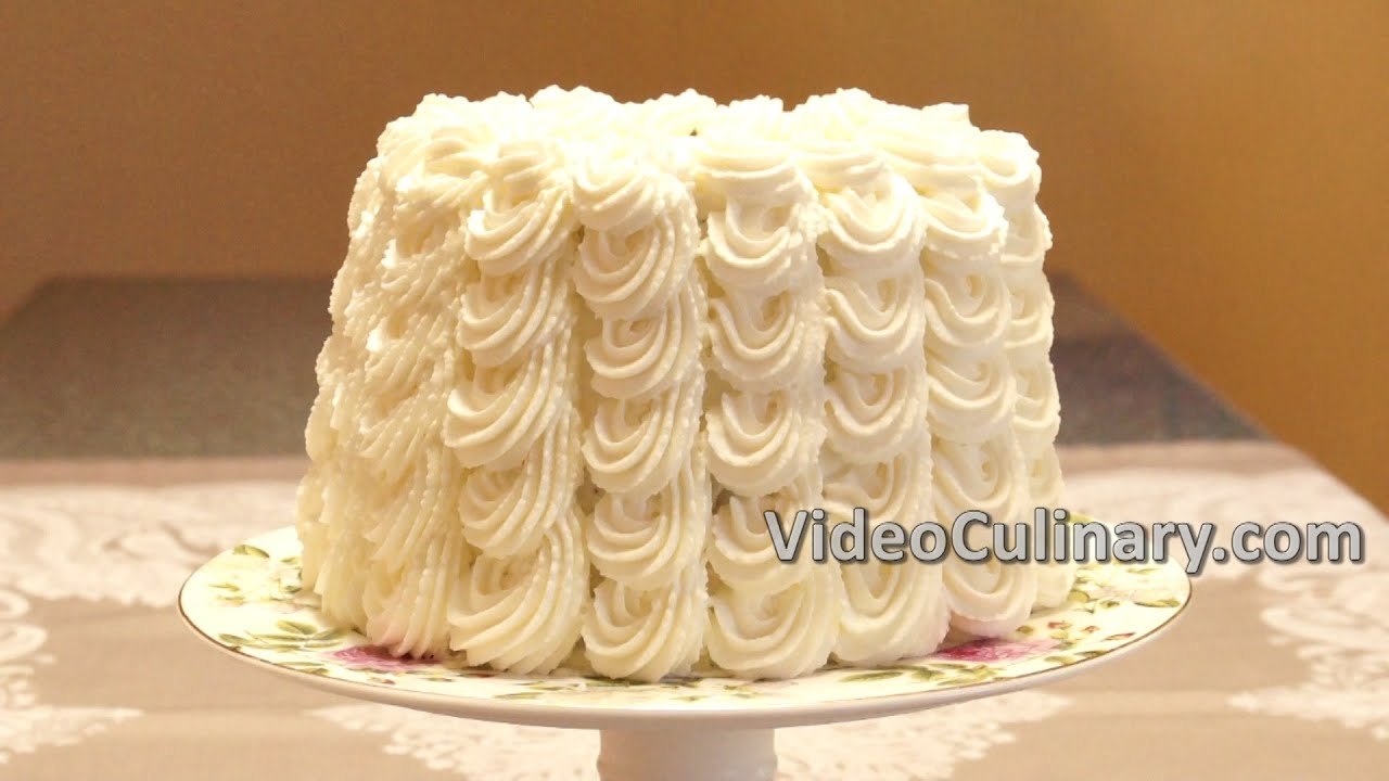 White Layer Cake With Cherry Filling