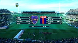 Fútbol en vivo. Boca - Tigre. Fecha 29 Primera División 2015. FPT.