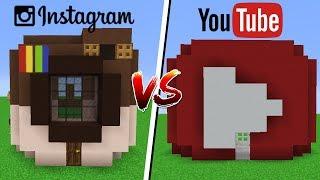 Minecraft: CASA INSTAGRAM VS CASA YOUTUBE