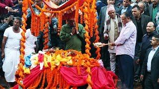 प्रचण्डले  दागबती  दिदै यसरी गरे छोराको अन्तिम संस्कार, Prakash Dahal Funeral Ceremony