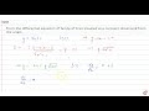 IIT JEE DIFFERENTIAL EQUATIONS Form the differential