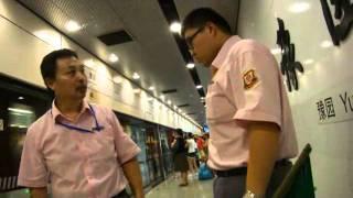 上海地下鉄10号線のホームで