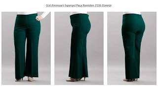 Gizli Fermuarlı İspanyol Paça Pantolon - Eslina Moda Büyük Beden Tesettür Giyim