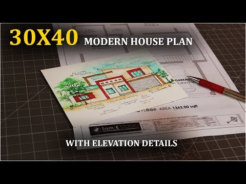 30X40 MODERN HOME DESIGN | 30 by 40 ghar ka naksha