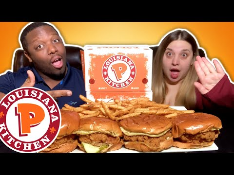 Popeyes Chicken Sandwich Mukbang [What Would You Do For A Million Dollars?]