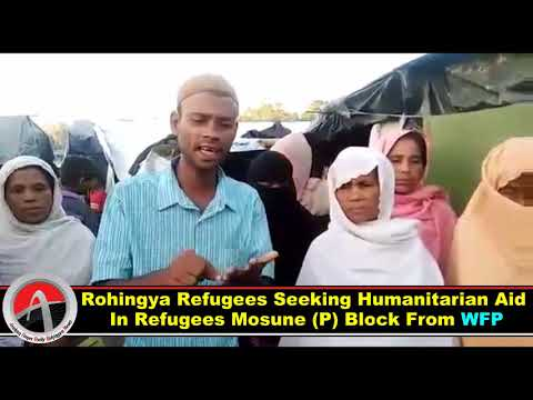 Rohingya Refugees Seeking Humanitarian Aid In Mosune (P) Block From WFP & International Communities