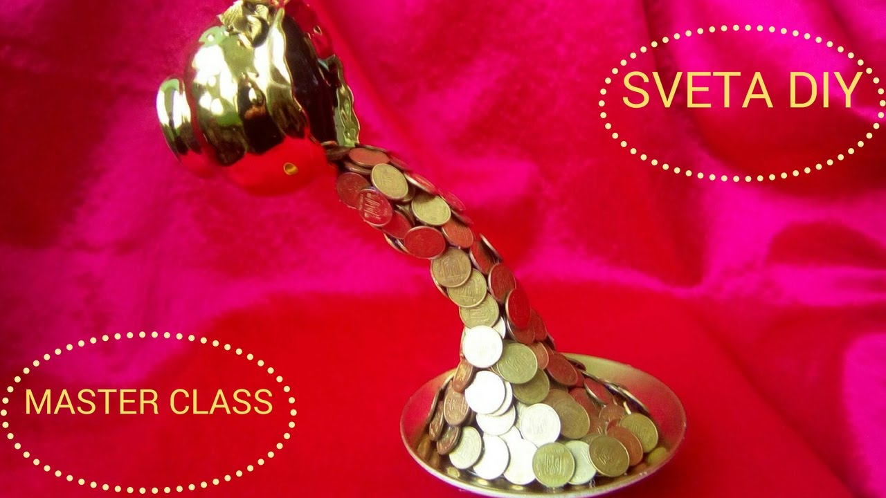 Парящая чашка своими руками. Мастер класс Sveta DIY поделки из монет