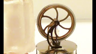 Ice Operating Stirling Engine. High speed operation just thanks to cold ice.  | WasabySajado