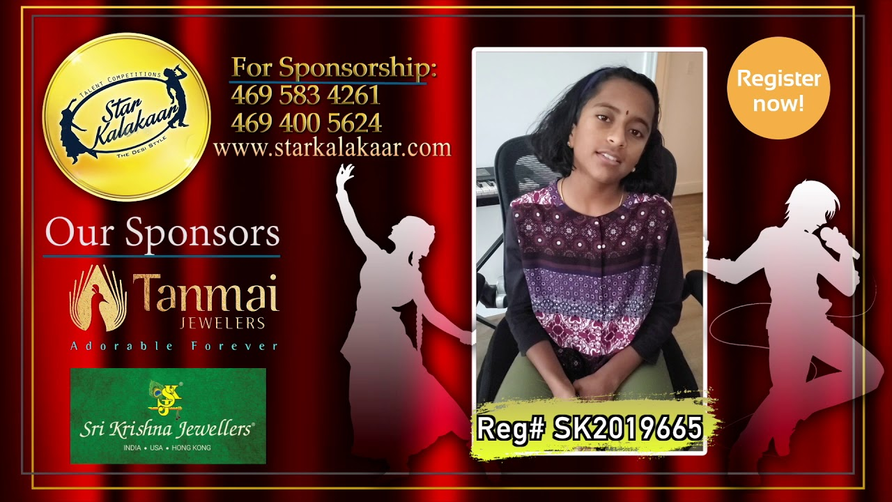 Registration NO - SK2019665 - Introduction Videos StarKalakaar-2019 #SK2019