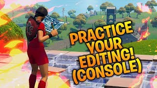 How to Practice Editing Fast on Console! (Fortnite Battle Royale Tips)