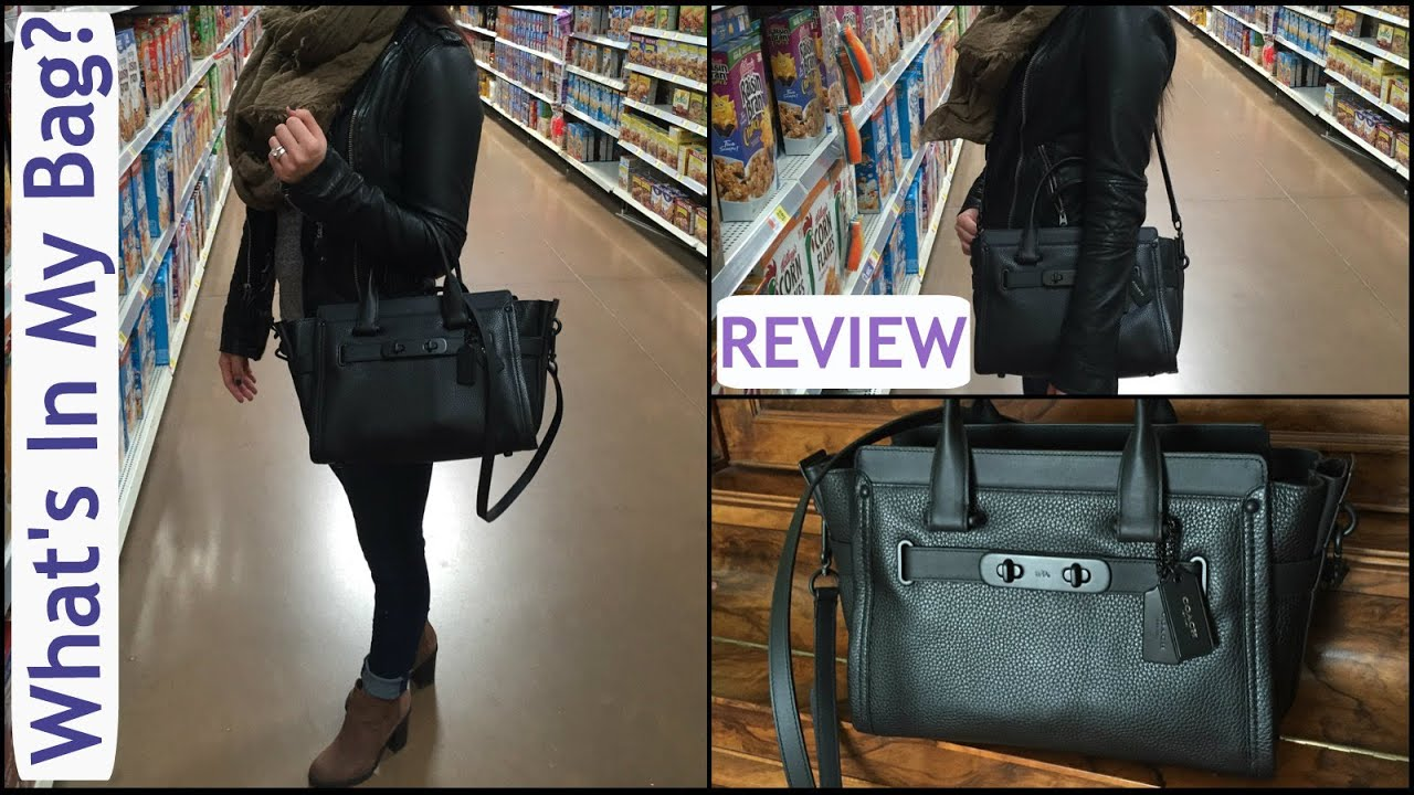 New Coach Swagger Carry All Review What S In My Bag Itsjustkelli You