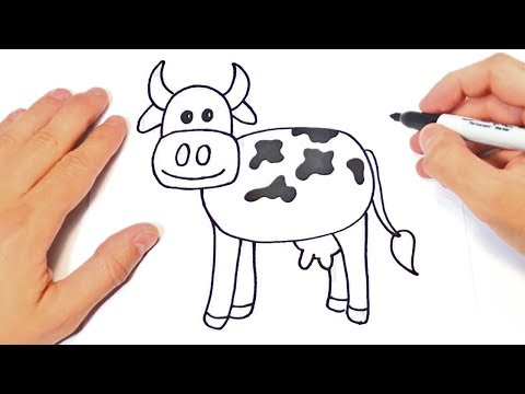 How To Draw A Caw For Kids | Caw Easy Draw Tutorial