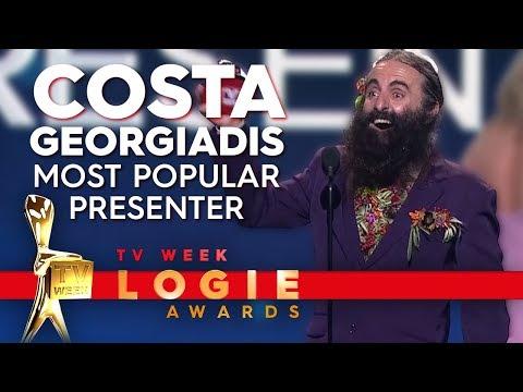 Costa Georgiadis Wins Most Popular Presenter | TV Week Logie Awards 2019