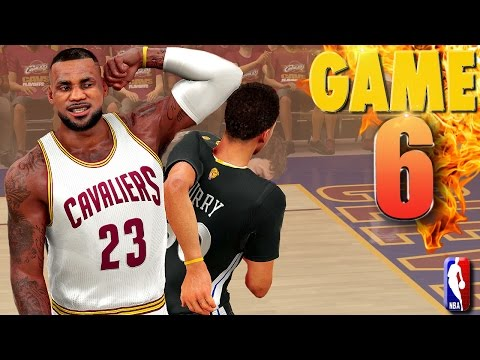 Cleveland Cavaliers vs Golden State Warriors Game 6 NBA Finals NBA 2K16 Prediction