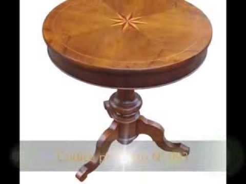 tavolino tavolini classici artigianali rotondi da gioco con piani ... - Tavolini Da Salotto Rotondi Classici