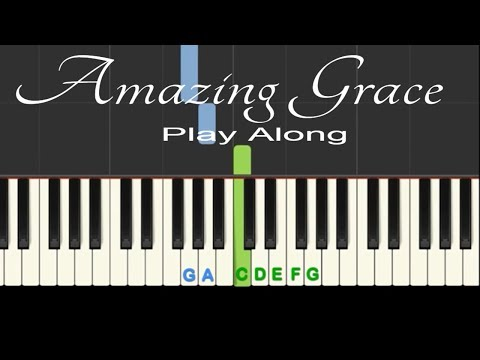 Amazing Grace: Play Along easy piano tutorial with free sheet music