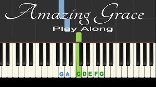 Amazing Grace: Play Along easy piano with backing track