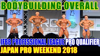 BODYBUILDING - OVERALL / IFBB PROFESSIONAL LEAGUE PRO QUALIFIER/JAPAN PRO WEEKEND 2018