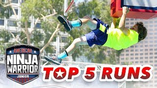 American Ninja Warrior Junior: TOP 5 RUNS   S1 E12   Universal Kids