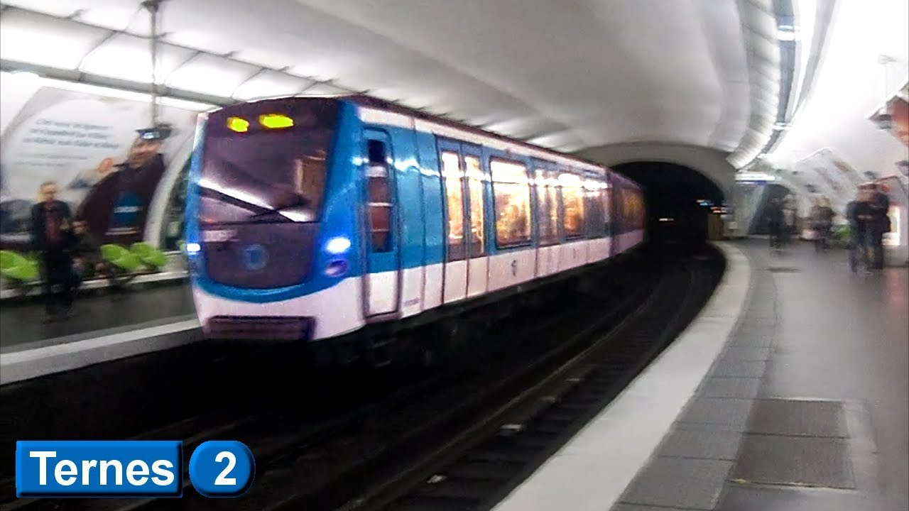 Métro de Paris : Ternes | Ligne 2 ( RATP MF01 ) - YouTube