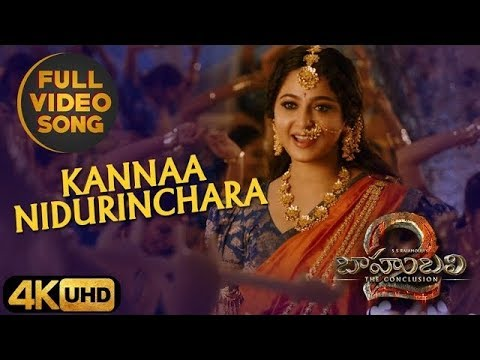 Kanna Nidurinchara Full HD Video SongBahubali 2
