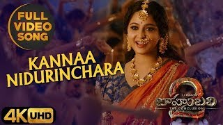Kanna Nidurinchara Full HD Video Song  Bahubali 2