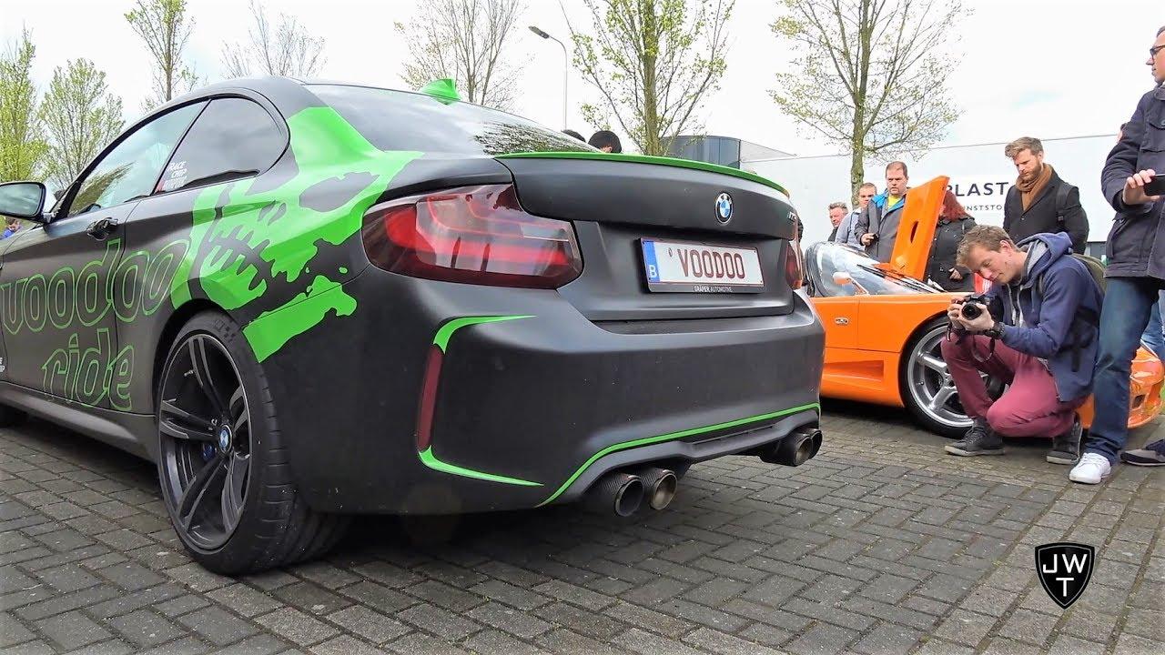LOUD Matte Black BMW M2 w/ Akrapovic Exhaust! INSANE REVS!
