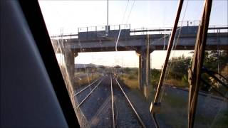 cab ride on siemens desiro emu 460 117 217 from tempi to thessaloniki fast forward