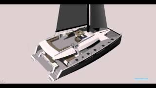Sailing Catamaran, Floeth 60, 3D Model