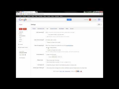How to set up a Google Voice account and use its features - Older version of GVoice
