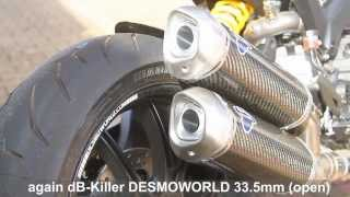 DESMOWORLD dB-Killer / dB-Eater / baffles mod for Termignoni Ducati Monster 1100 Evo