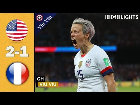 [ Quarter – Final ] USA vs France 2-1 All Goals & Highlights | 2019 WWC