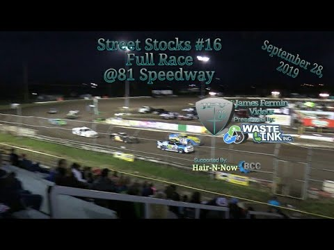 Street Stocks #16, Full Race, 81 Speedway, 09/28/19