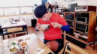 3일차 점심먹기, 시원한 서리태콩국수^^