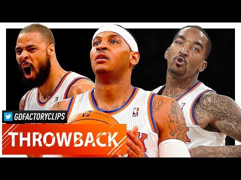 Throwback: Carmelo Anthony, J.R. Smith & Tyson Chandler Highlights vs Warriors (2013.02.27) - SICK!