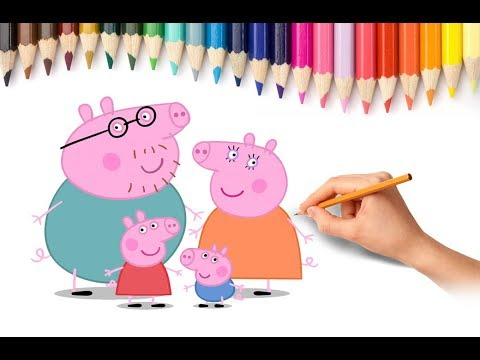How to Draw Peppa Pig Family Coloring Pages Videos for